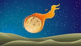 Un cometa golpeó el planeta ilustración del vector