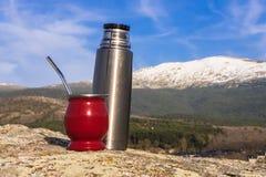 Un compagnon dans les montagnes Photos stock
