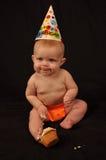 un compleanno di 6 mesi Fotografie Stock
