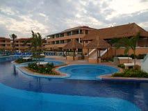 Un complejo playero en Cancun fotografía de archivo libre de regalías