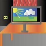 Un computer Fotografie Stock Libere da Diritti