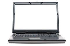 Un computer portatile con uno schermo in bianco Immagine Stock Libera da Diritti