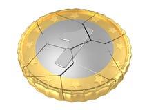 Un concept criqué d'isolement de pièce de monnaie illustration de vecteur