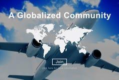 Un concept mondial généralisé de réseau de connexion de la Communauté Photos libres de droits