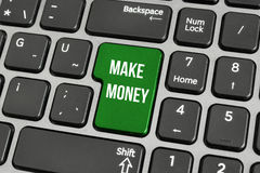 Un concepto de hacer el dinero en línea Imagen de archivo libre de regalías