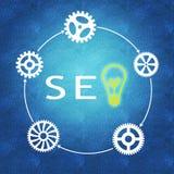 Optimización y éxito empresarial del Search Engine stock de ilustración