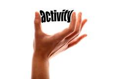 Un concepto más pequeño de la actividad fotos de archivo