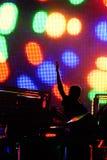 Un concert de la musique électronique Photographie stock libre de droits