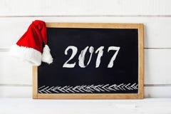 Un concetto blackboard02 vuoto di 2017 nuovi anni Fotografia Stock Libera da Diritti