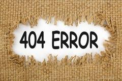 un concetto di 404 errori Fotografia Stock Libera da Diritti