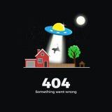 un concetto di 404 errori Immagini Stock