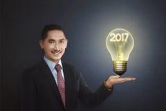 Un concetto di 2017 nuovi anni Fotografie Stock Libere da Diritti