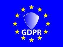 Un concetto meraviglioso del regolamento generale di protezione dei dati dall'Unione Europea Fotografia Stock Libera da Diritti