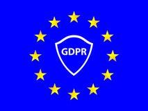 Un concetto meraviglioso del regolamento generale di protezione dei dati dall'Unione Europea Fotografie Stock Libere da Diritti