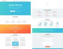Un concetto piano del modello di progettazione del sito Web della pagina royalty illustrazione gratis