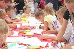 Un concorso del disegno dei bambini Fotografia Stock