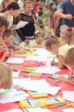 Un concorso del disegno dei bambini Fotografie Stock Libere da Diritti