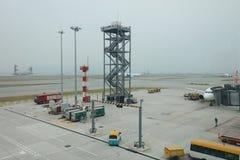 un concours de zone centrale à l'aéroport international du HK Photo stock
