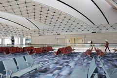 un concours de zone centrale à l'aéroport international du HK Image stock