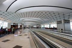 un concours de zone centrale à l'aéroport international du HK Photo libre de droits
