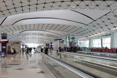 un concours de zone centrale à l'aéroport international du HK Image libre de droits