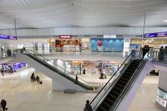 un concours de zone centrale à l'aéroport international du HK Photographie stock