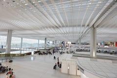 un concours de zone centrale à l'aéroport international du HK Photos stock