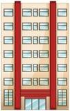 Un condominio alto stock de ilustración