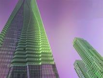 Un condominium occidental coloré vert et violet de Bloor à Toronto Images libres de droits