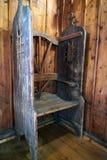 Un confesseur dans une vieille chapelle chrétienne poland image libre de droits