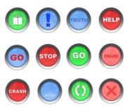 Un conjunto colorido de botones Imagen de archivo libre de regalías