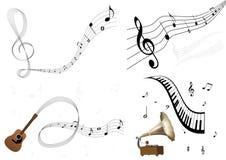 Un conjunto de algunas ilustraciones de la música ilustración del vector