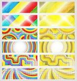 Un conjunto de banderas coloridas stock de ilustración