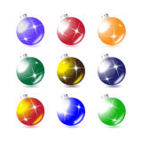 Un conjunto de bolas del árbol de navidad Fotografía de archivo