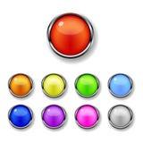Un conjunto de botones redondos Foto de archivo