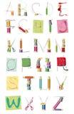 Un conjunto de cartas, equipo de costura Fotografía de archivo libre de regalías
