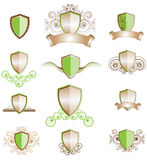 Un conjunto de diseños del blindaje Imágenes de archivo libres de regalías
