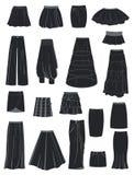 Un conjunto de faldas Fotografía de archivo libre de regalías