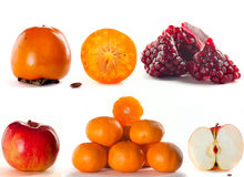 Un conjunto de fruta de la mezcla Imágenes de archivo libres de regalías