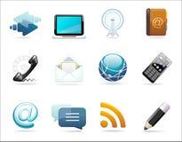 Un conjunto de iconos de la comunicación Fotos de archivo