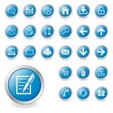 Un conjunto de iconos del Web ilustración del vector