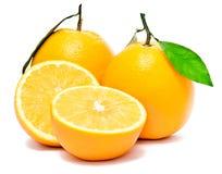 Un conjunto de la naranja fresca Imagenes de archivo