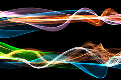 Un conjunto de llama/de humo labró fondos ilustración del vector