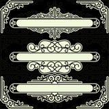 Un conjunto de los elementos para el diseño Imagenes de archivo