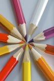 Un conjunto de los lápices coloridos 9 fotografía de archivo