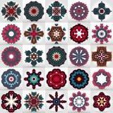 Un conjunto de mandalas y de círculos hermosos del cordón Fotos de archivo