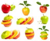 Un conjunto de manzanas frescas Fotografía de archivo libre de regalías