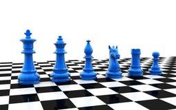 Un conjunto de pedazos de ajedrez Fotos de archivo