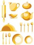 Un conjunto de platos Fotos de archivo