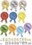 Un conjunto de recompensa-rosetones Fotografía de archivo libre de regalías